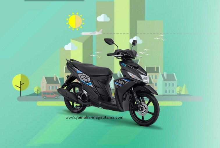 Sepeda Motor Mio M3 125 Hitam dan Spesifikasi Terbaru